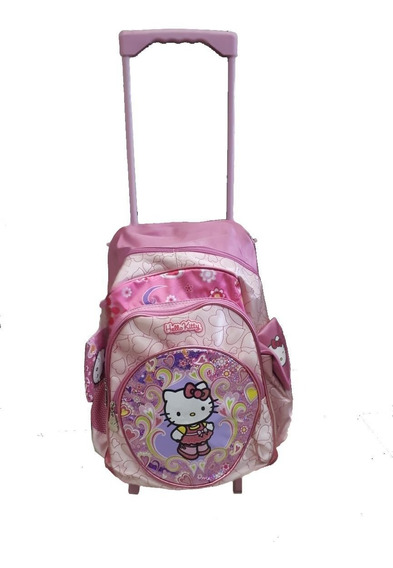 Mochila Con Carro Hello Kitty Con Licencia Original 17