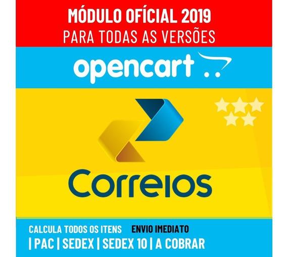 Módulo Dos Correios Opencart Módulo Oficial + Brinde