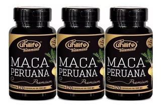Maca Peruana Pura Premium Original Unilife Combo 3u 360 Caps