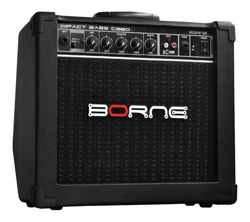 Amplificador Cubo Para Baixo Borne Impact Bass Cb60 Bk