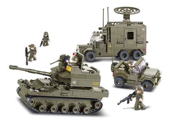 Quebra Cabeça Tanque Guerra Tipo Leg0 Tank War - 578 Peças