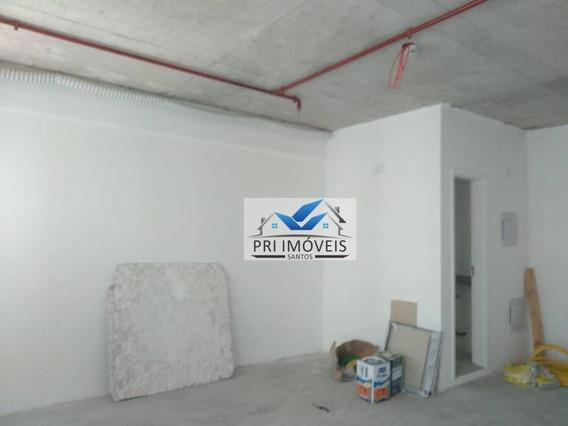 Sala À Venda, 42 M² Por R$ 180.000,00 - Vila Matias - Santos/sp - Sa0032