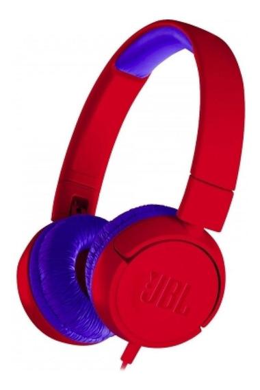 Fone de ouvido JBL JR300 vermelho
