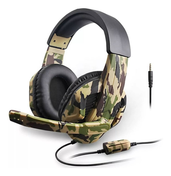 Fone Gamer Camuflado Headset Áudio 7.1 Microfone Ps3 Ps4 Pc Controle De Volume Nota F