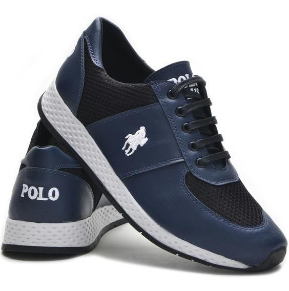 Kit Sapatênis Tênis Masculino Polo Plus +carteira Promoção!