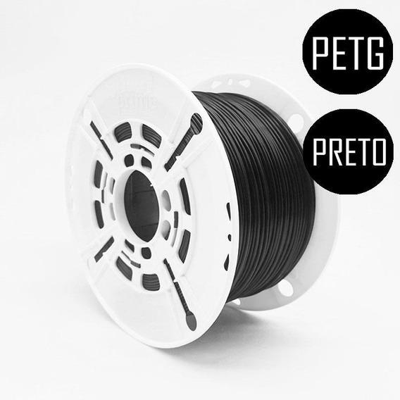 Filamento 3d Prime Petg Preto Sólido 1,75mm 1kg
