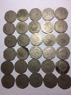 30 Monedas Mexicanas Antiguas De 10 Pesos