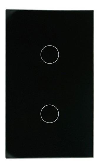 Apagador Inteligente Smart Touch 2 Botones Negro Modelo 2