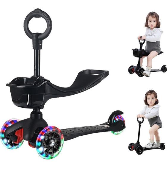 Scooter Infantil Scooter Estable De Tres Ruedas Ruedas Flash