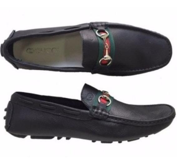 Mocassim Sapato Sapatilha Gucci Masculino Casual 100% Couro