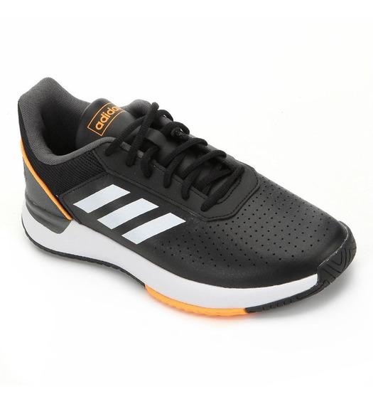 Tênis adidas Courtsmash - Masculino - Preto/branco