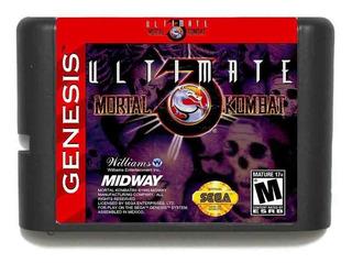 Cartucho Mortal Kombat 3 Ultimate Sega 16 Bits Retro