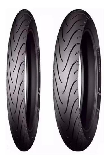 Par Pneu 2.75-18 90/90-18 Titan-fan-factor Michelin Pilot