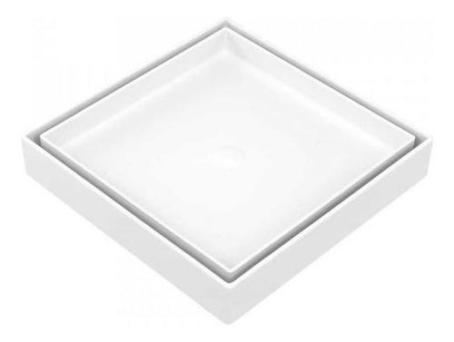 Ralo Oculto Invisivel Universal Branco 15x15