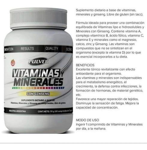 Vitaminas Y Minerales Con Ginseng