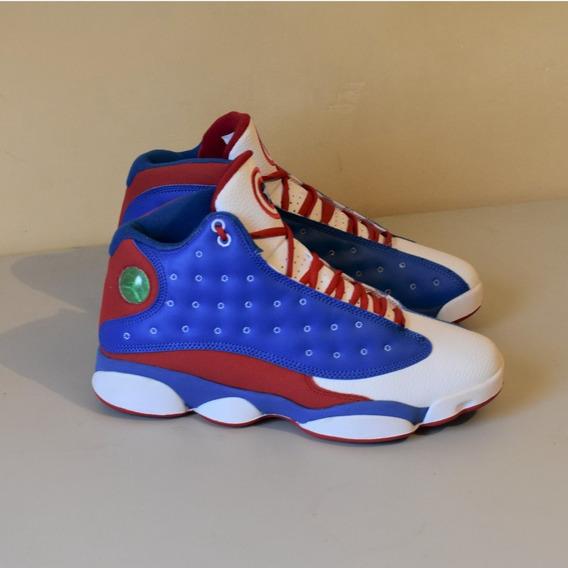 Tenis Jordan Retro 13 Capitán America Nike Basquetbol