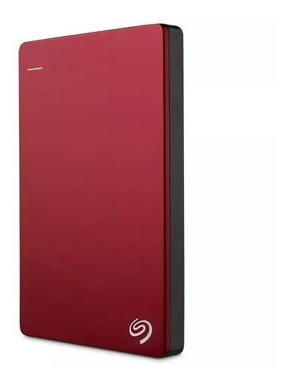 Disco Duro Externo Seagate 1tb Backup Plus Slim Usb3.0 Rojo