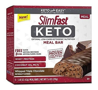 Barras Slimfast Keto Meal Triple Chocolate Batido 5pz Paleo