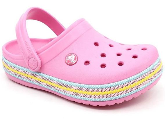 Clog Crocs Infantil Crocband Sport Cord Pink