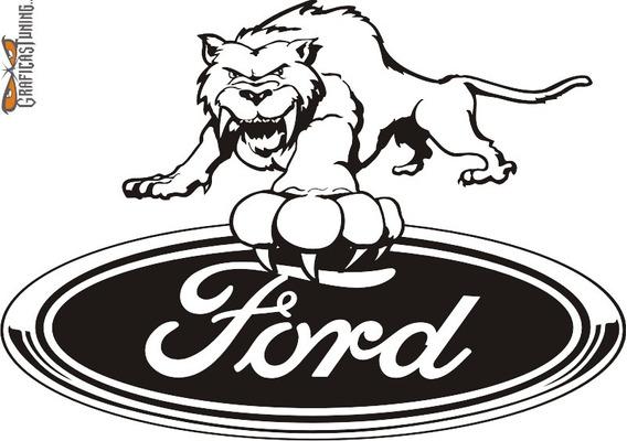Calcomanías Logo Ford 08 - 30 X 20 Cm Graficastuning