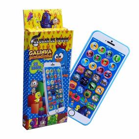 Celular iPhone Galinha Pintadinha 29 Teclas Infantil
