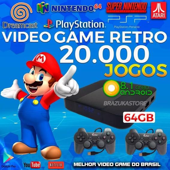 Retro Box - Video Game Retro, 2 Controles 64gb, C/ Extensor