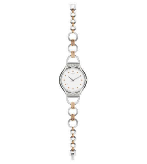 Relógio Swatch Skinring Svok102g Aço Prata Original