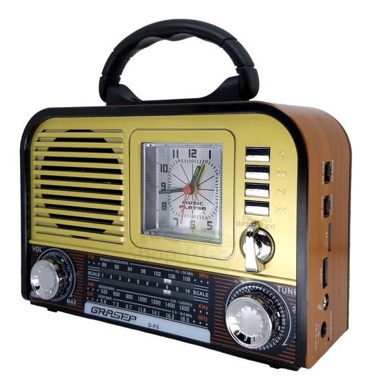 Radio Retro Som Vintage Am Fm Sw Som Bluetooth Usb Caixa Som