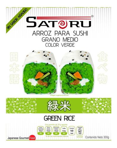 Arroz Japonés Verde Para Sushi Sin Sabor Añadido 300g