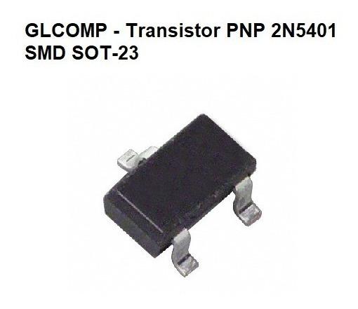 Transistor 2n5401 Smd Pnp Sot-23 Kit C/ 50 Peças - Carta R.