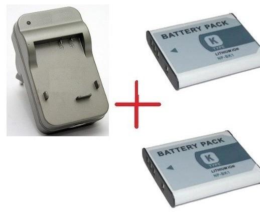 Kit 2 Bateria Bk1 + Carregador Bk1 P/ Camera Sony