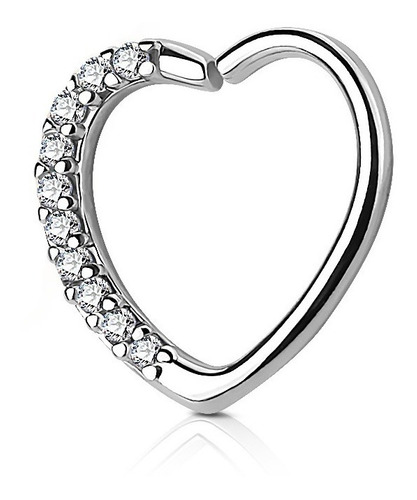 Imagen 1 de 3 de Hermoso Piercing Corazón Strass Piercing Argentina ®