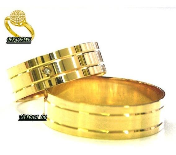 Aliança Moeda Antiga Noivado Casamento Baratas Par 10 Mm