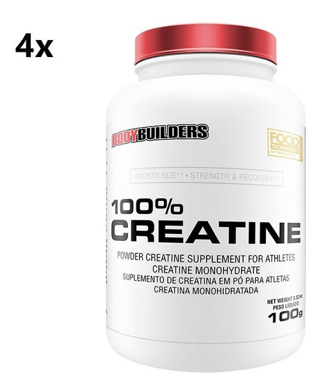 Combo 4x 100% Creatina 100g - Bodybuilders