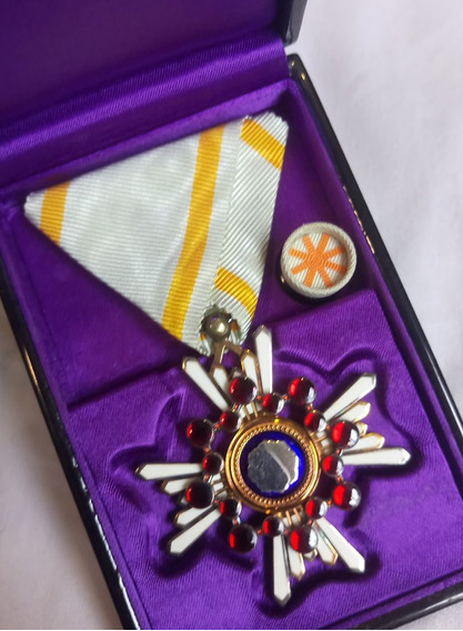Medalha Exército Impérial Japonês Tesouro Sagrado 2ª Guerra