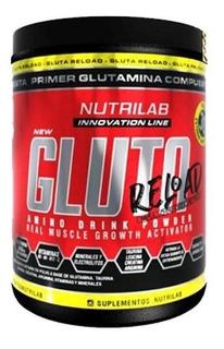 Glutamina 300grs Nutrilab Aminoacidos Masa Muscular