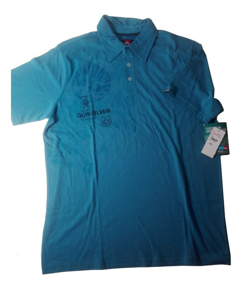 Playera Polo Quicksilver Algodon Original Moda Remate