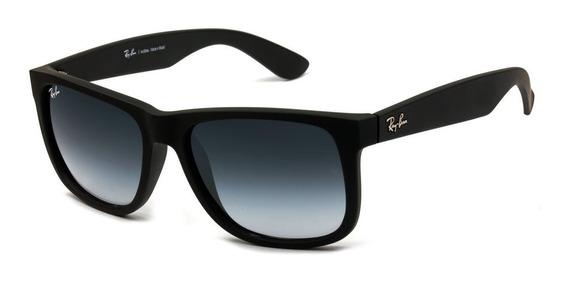 Óculos De Sol Masculino Polarizado Quadrado Justin Preto