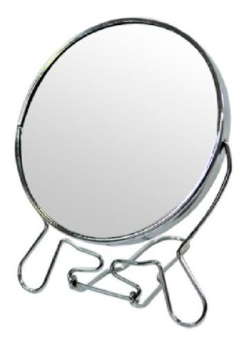 Imagem 1 de 2 de Espelho De Mesa 22cm Para Maquiagem Dupla Face C/aumento 3x