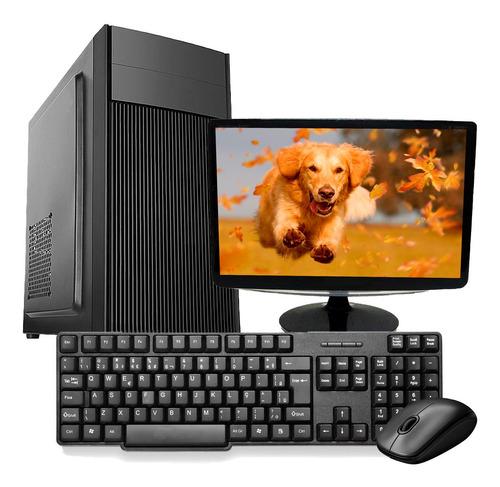 Imagem 1 de 6 de Computador Pc Completo Intel I5 4gb Ssd 120gb Win10 Monitor