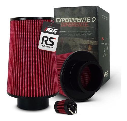 Filtro De Ar Esportivo Duplo Fluxo Rsp  3 X200mm Vermelho