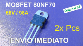 2x Transistor Mosfet Stp80nf70 80nf70 St 68v 98a