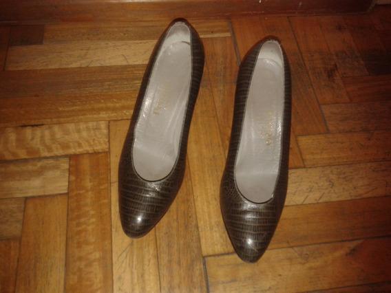 Zapatos Reptil Verde Perugia
