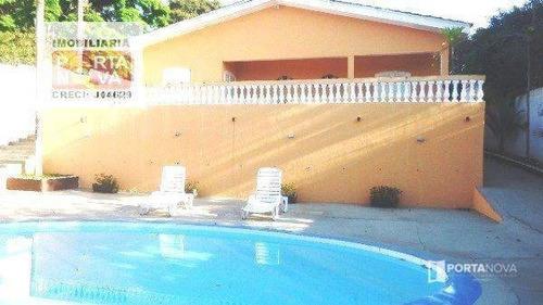 Chácara Com 3 Dormitórios À Venda, 1000 M² Por R$ 700.000,00 - Chácaras Bartira - Embu Das Artes/sp - Ch0065