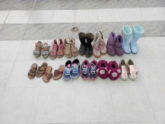 Lote De Zapatos Para Niña Varios No. Del 19 Al 21 13 Pares