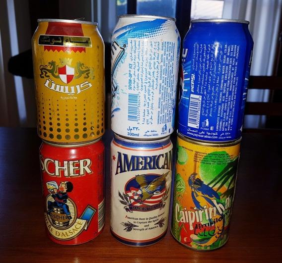 Latas Varias De Cerveza Y Gaseosa