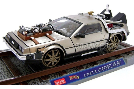 Delorean Time Machine Back To The Future Sun Star 1:18 #2714