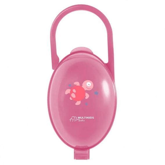 Porta Chupeta Rosa Multikids Baby Bb142