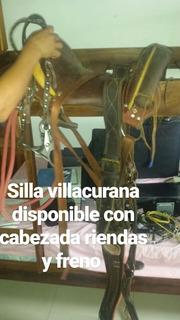 Silla Para Caballo Villacurana Nueva Con Freno Cabezada