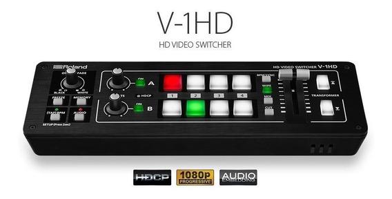 Switcher Roland V-1hd Portable 4 X Hdmi Input Switcher V 1hd